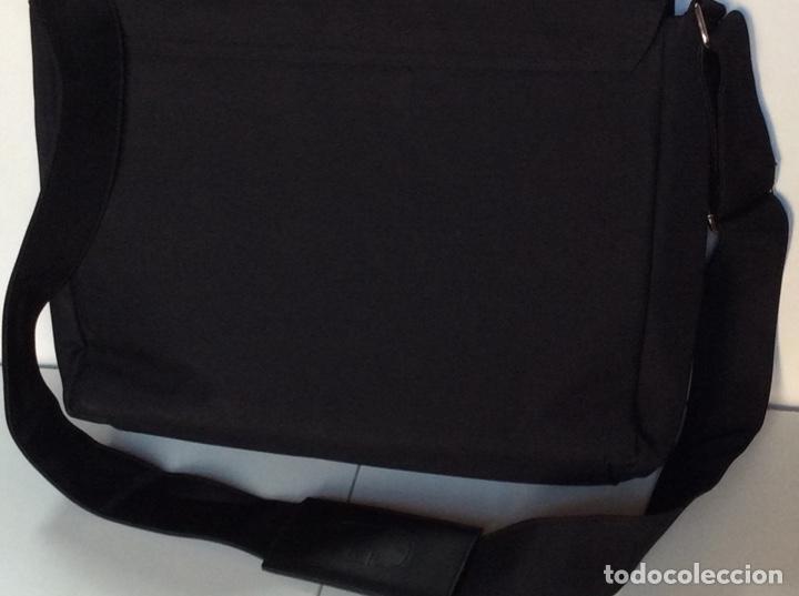 Vintage: Envío 12€. Bolso/bolsa DIOR HOMME PARFUM de lona y poli piel negra de 40x30x8cm sin usar - Foto 7 - 190345335