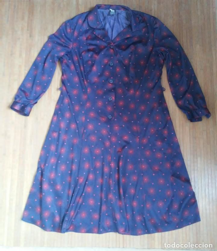 Vestido Vintage Azul Motivos Rojos Botones Forr Buy Vintage Fashion For Women At Todocoleccion 190932613