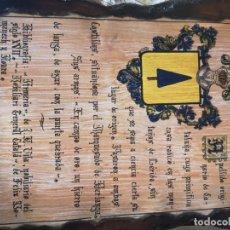 Vintage: TABLA DE APELLIDO RELLO. Lote 191369428