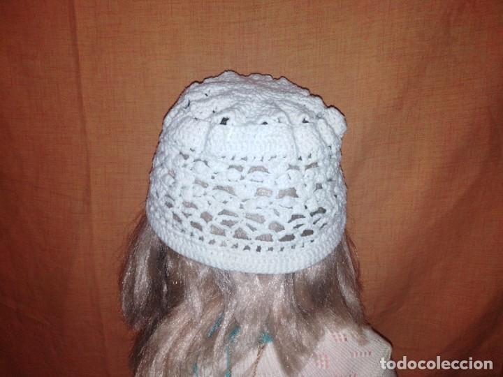 Vintage: Precioso gorro hecho de croche de algodón blanco - Foto 2 - 191745663