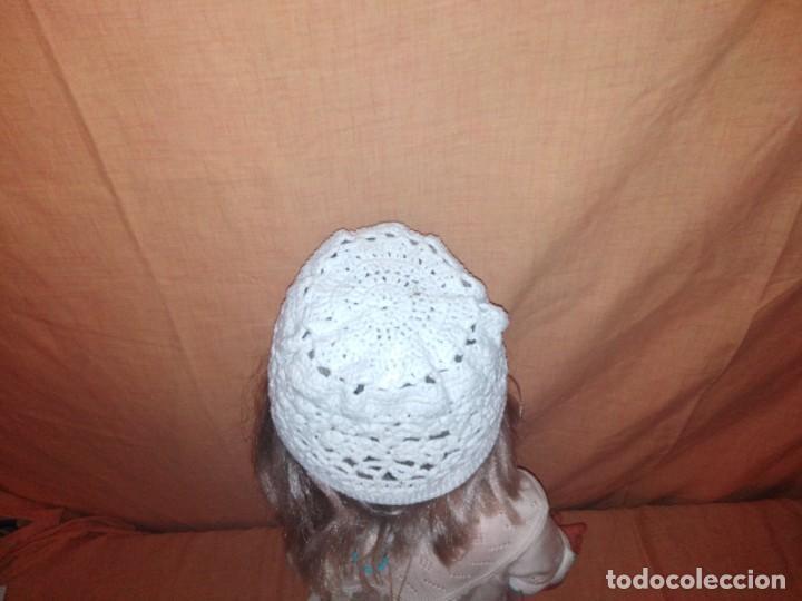 Vintage: Precioso gorro hecho de croche de algodón blanco - Foto 3 - 191745663