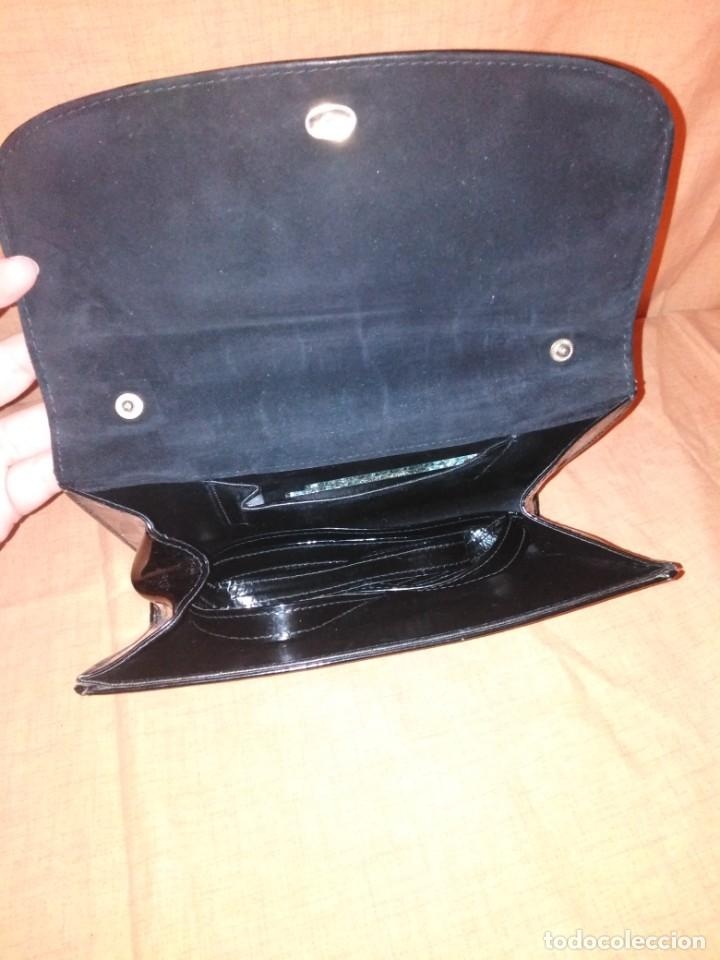 Vintage: Precioso bolso de charol y piel con espejos años 50/60 - Foto 3 - 191746233