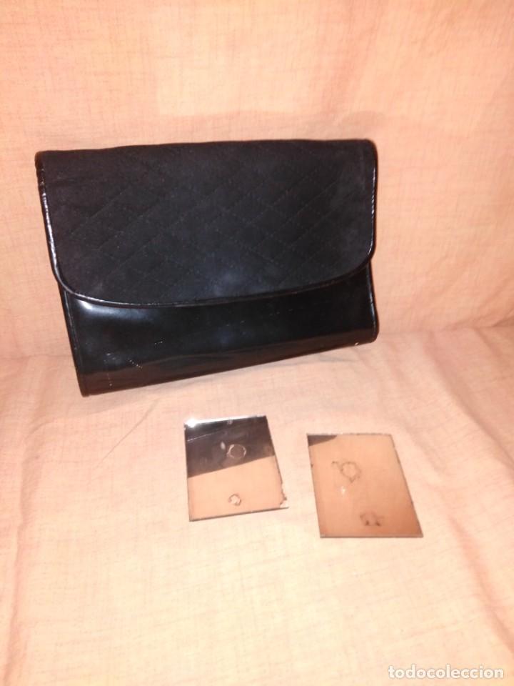 Vintage: Precioso bolso de charol y piel con espejos años 50/60 - Foto 4 - 191746233