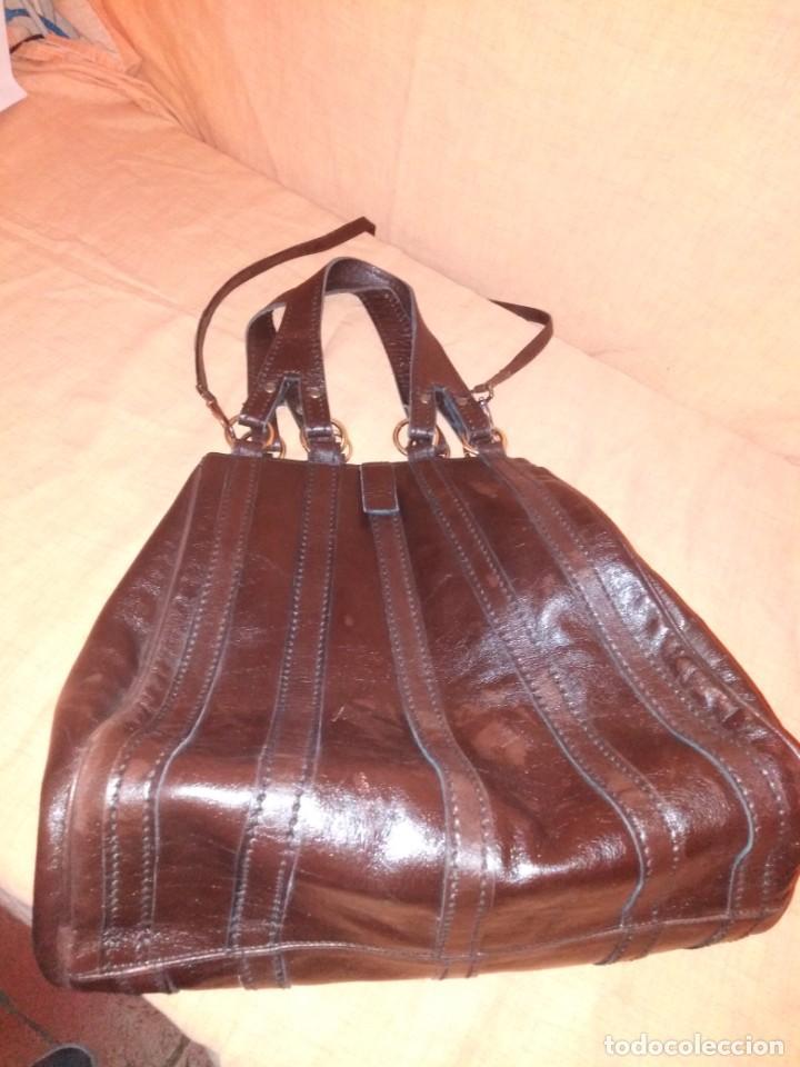 Vintage: Bolso marrón de cuero marrón años 50/60 - Foto 2 - 191746472