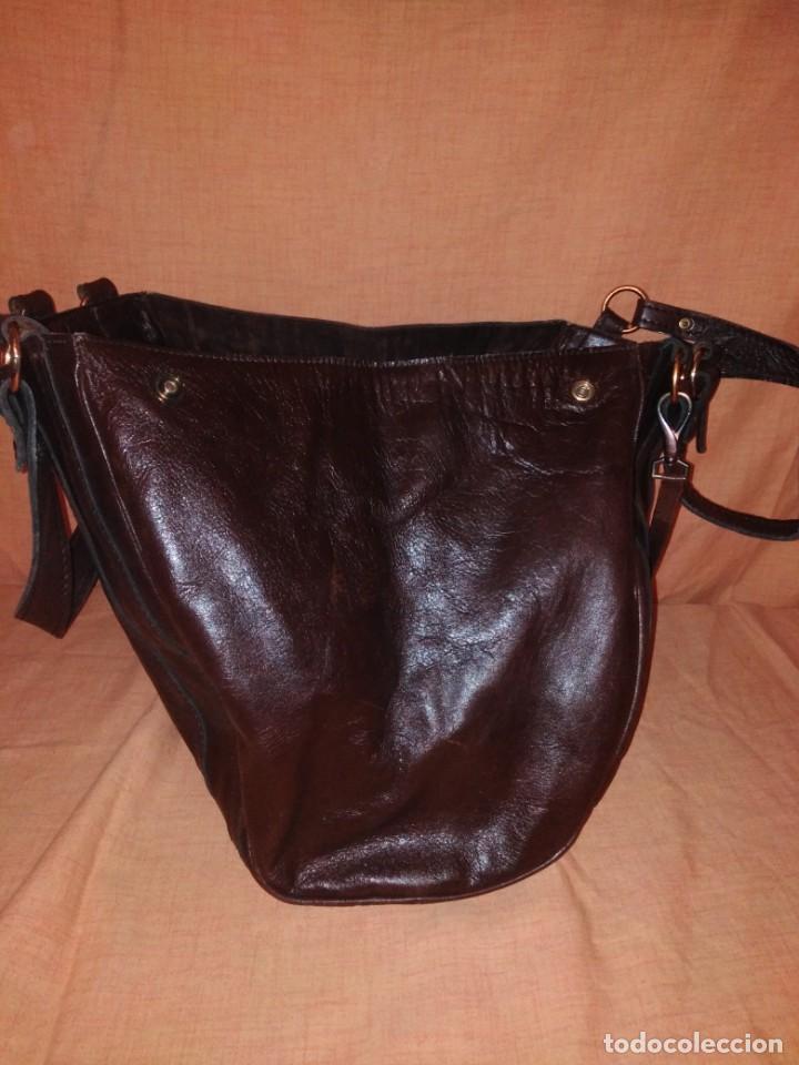 Vintage: Bolso marrón de cuero marrón años 50/60 - Foto 3 - 191746472