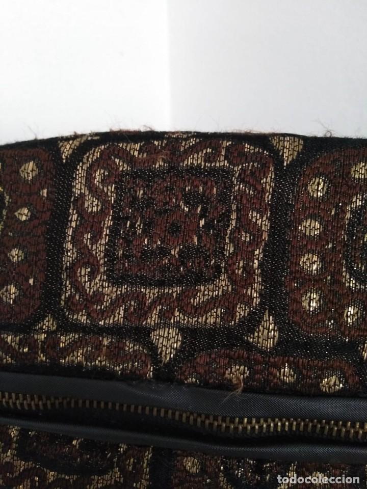 Vintage: Bonito neceser color marrón con decorado . - Foto 2 - 191748365
