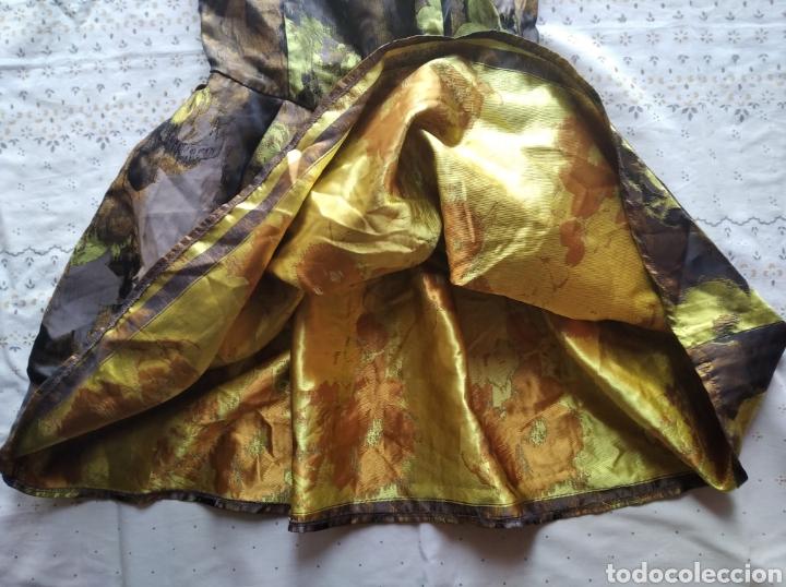 Vintage: Vestido Asos fiesta boda coctel marrón amarillo dorado flores talla 36 - Foto 4 - 191846946