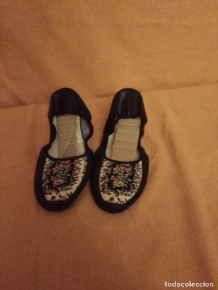 Vintage: Zapatillas de andar por casa de viaje años 50/60 small talla 35/36 - Foto 2 - 192500065