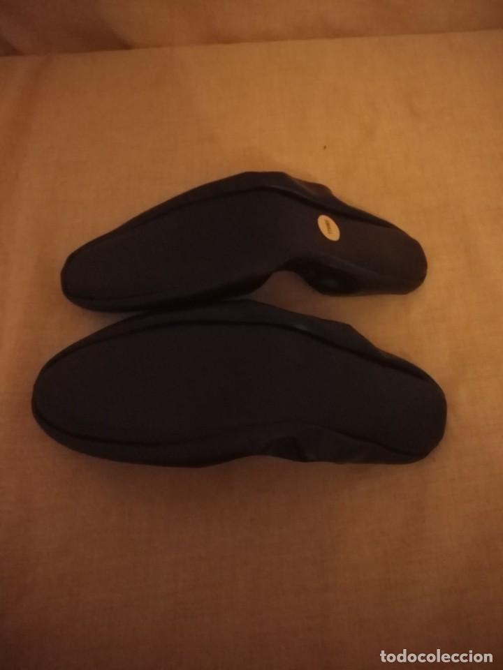 Vintage: Zapatillas de andar por casa de viaje años 50/60 small talla 35/36 - Foto 4 - 192500065