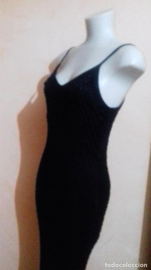 Vintage: Vestido largo /negro/calado /con forro/ideal fiesta/para talla 40 - Foto 2 - 192520361