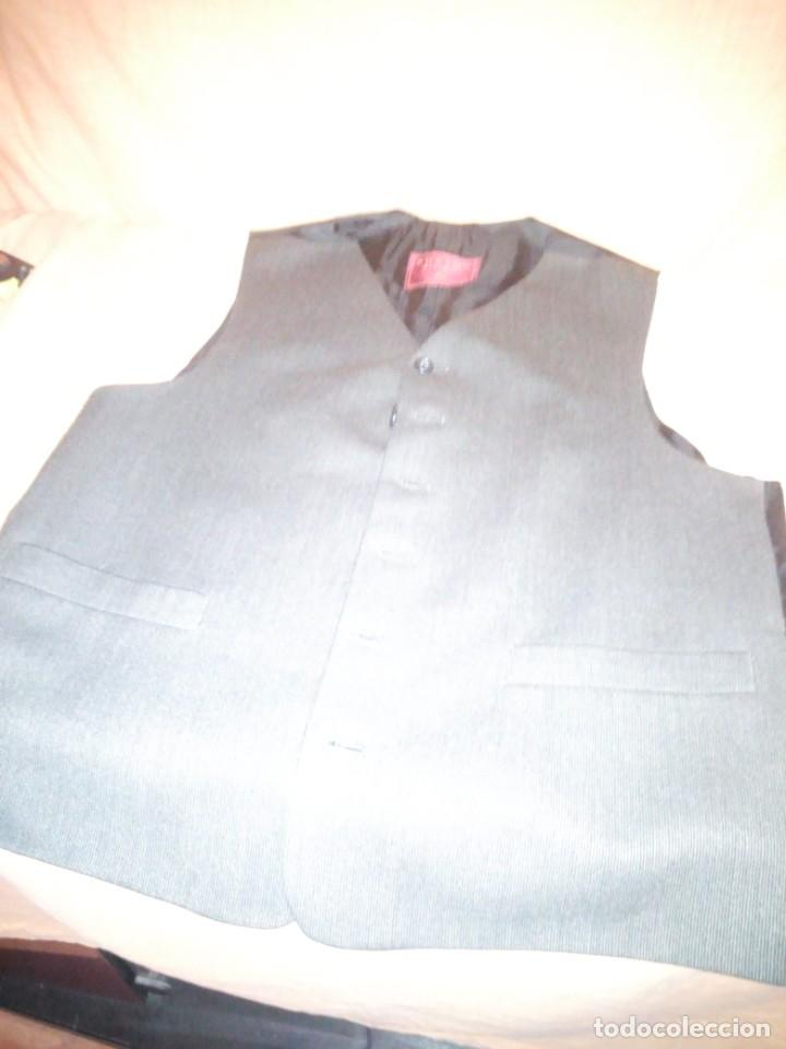 Vintage: chaleco de traje burton menswear,gris forro negro. - Foto 2 - 193347700