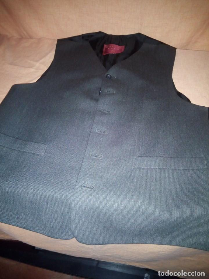 Vintage: chaleco de traje burton menswear,gris forro negro. - Foto 3 - 193347700