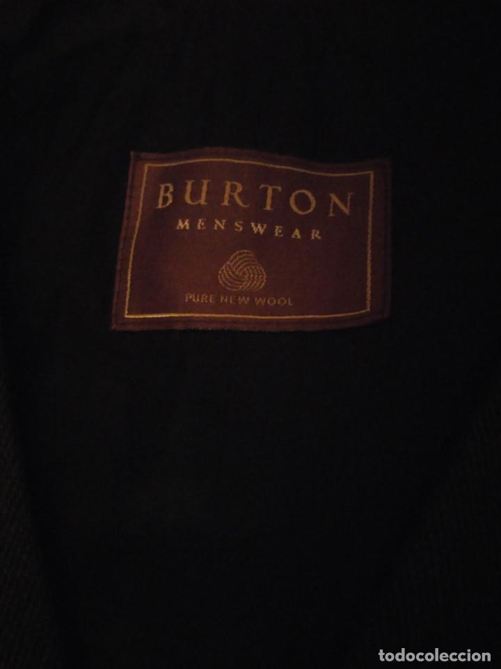Vintage: chaleco de traje burton menswear,gris forro negro. - Foto 6 - 193347700