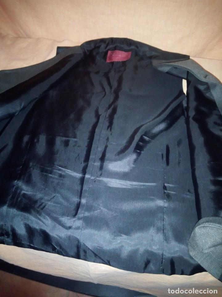 Vintage: chaleco de traje burton menswear,gris forro negro. - Foto 8 - 193347700