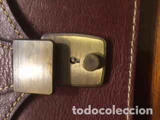 Vintage: Cartera de piel, Pielsuave , portadocumentos, con asa-correa de piel, varios departamentos. Nuevo - Foto 4 - 193809040
