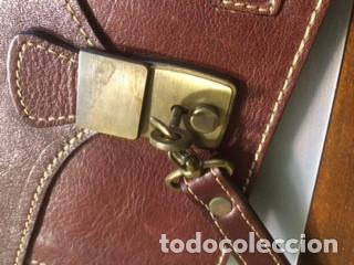 Vintage: Cartera de piel, Pielsuave , portadocumentos, con asa-correa de piel, varios departamentos. Nuevo - Foto 5 - 193809040