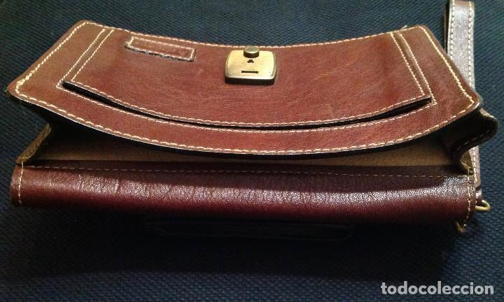 Vintage: Cartera de piel, Pielsuave , portadocumentos, con asa-correa de piel, varios departamentos. Nuevo - Foto 6 - 193809040