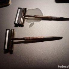 Vintage: MAQUINILLA DE AFEITAR, MINIATURAS, CAJA DORADA, DE 6,5 X 4,5 CM. SIN USAR.. Lote 193811498