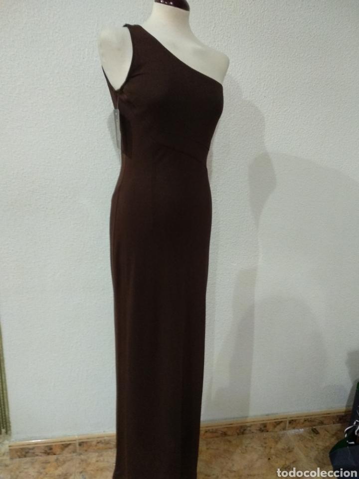 Vintage: Liquidación. Vestido tirante marrón. Talla 42. Presen - Foto 5 - 194194850