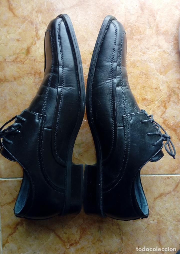 Vintage: Zapatos negros de puntera cuadrada marca Propeller. Puestos una vez. Talla 46 (Talla 12 UK) - Foto 3 - 194312180