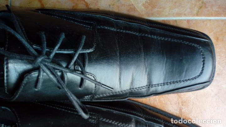 Vintage: Zapatos negros de puntera cuadrada marca Propeller. Puestos una vez. Talla 46 (Talla 12 UK) - Foto 4 - 194312180