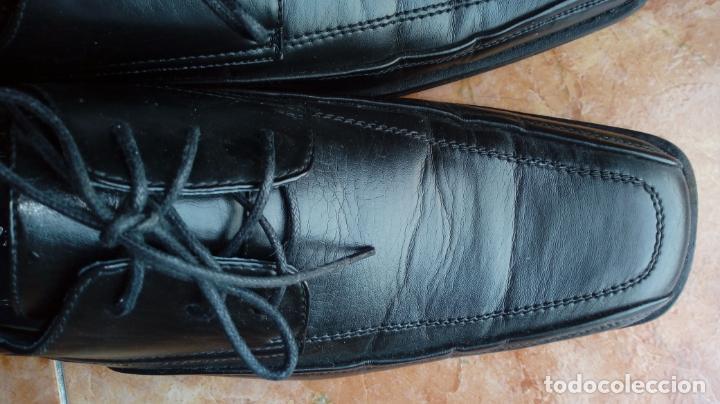 Vintage: Zapatos negros de puntera cuadrada marca Propeller. Puestos una vez. Talla 46 (Talla 12 UK) - Foto 5 - 194312180