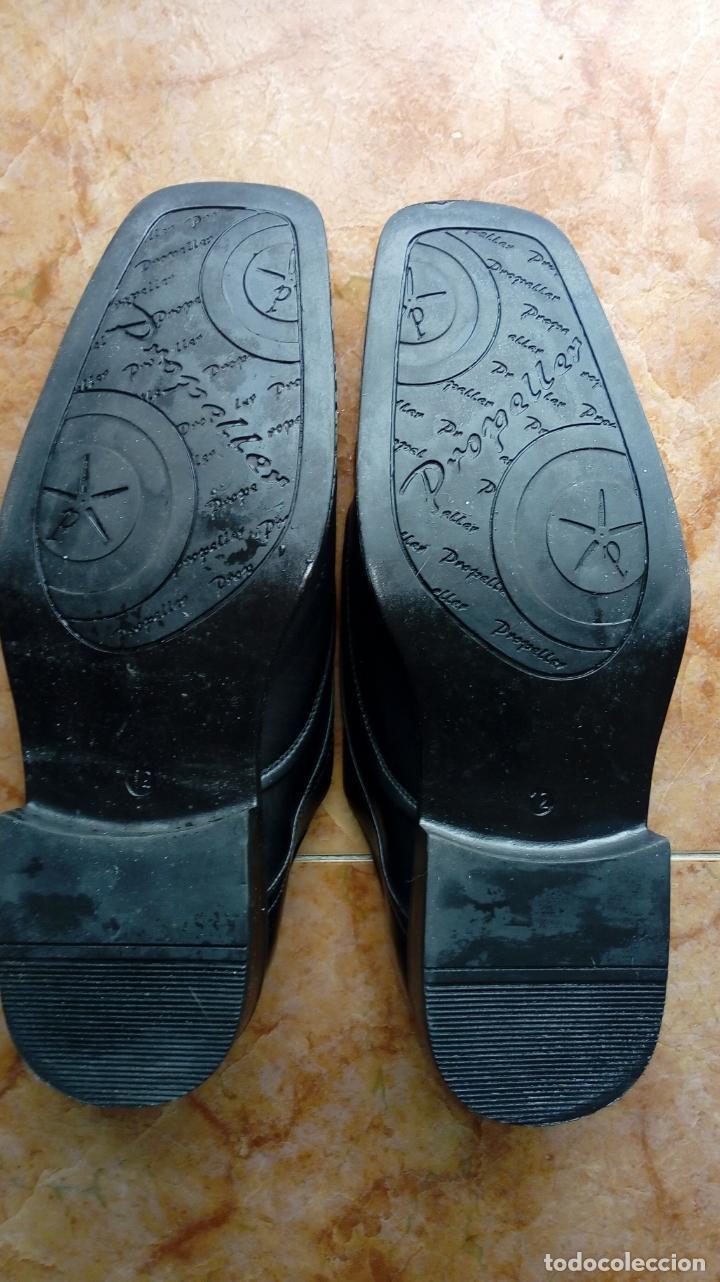 Vintage: Zapatos negros de puntera cuadrada marca Propeller. Puestos una vez. Talla 46 (Talla 12 UK) - Foto 7 - 194312180