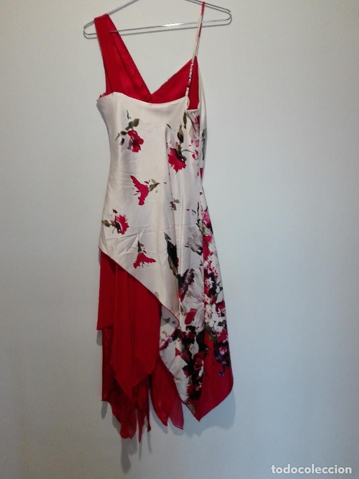 Vintage: Vestido de fiesta en seda - Foto 4 - 194318183
