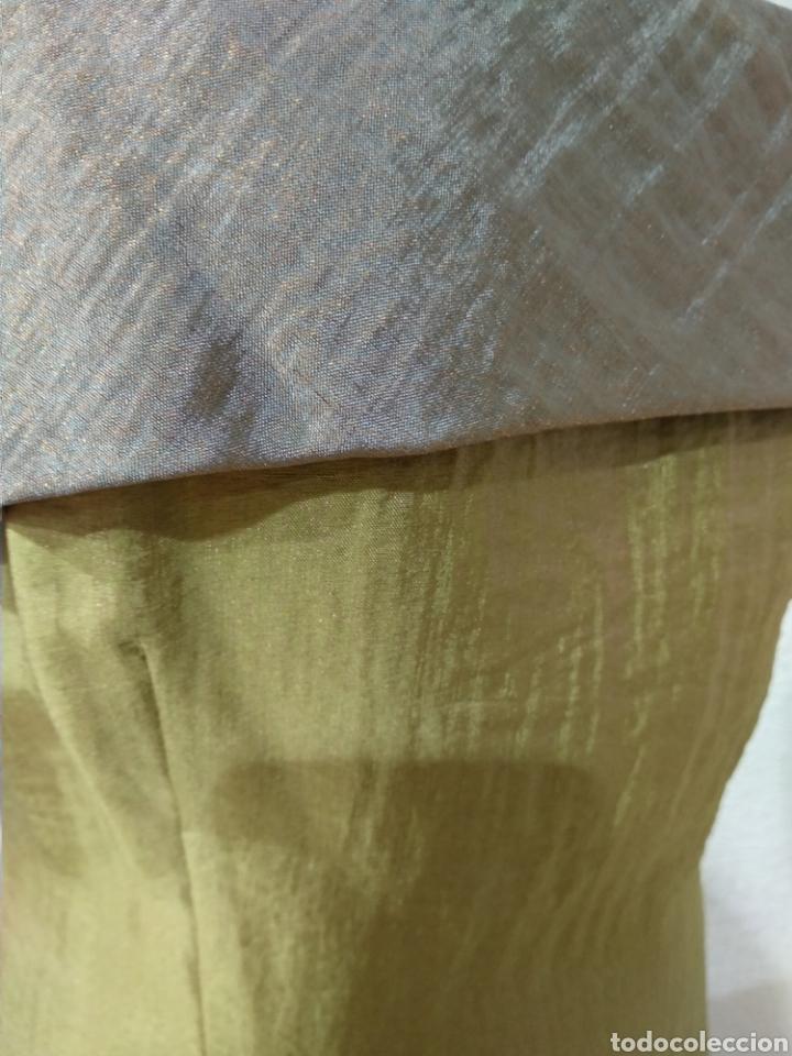 Vintage: Liquidación tienda. Vestido largo verde tornasolado. Talla 42. DOrsay. Nuevo - Foto 3 - 194639178
