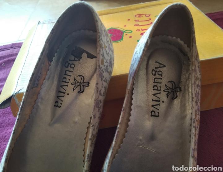 Vintage: Zapatos bailarinas talla 36 flores - Foto 3 - 194782462