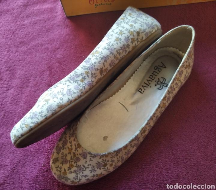 Vintage: Zapatos bailarinas talla 36 flores - Foto 4 - 194782462