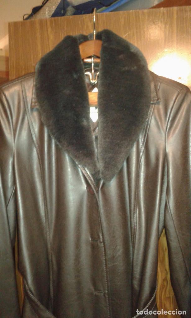 Vintage: Abrigo largo piel - Foto 2 - 194905592