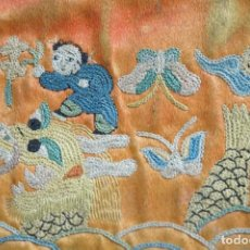 Vintage: MONEDERO ANTIGUO BORDADO EN SEDA . CHINA. Lote 194949816