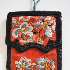 Vintage: MONEDERO ANTIGUO BORDADO EN SEDA. CHINA. Lote 194951647