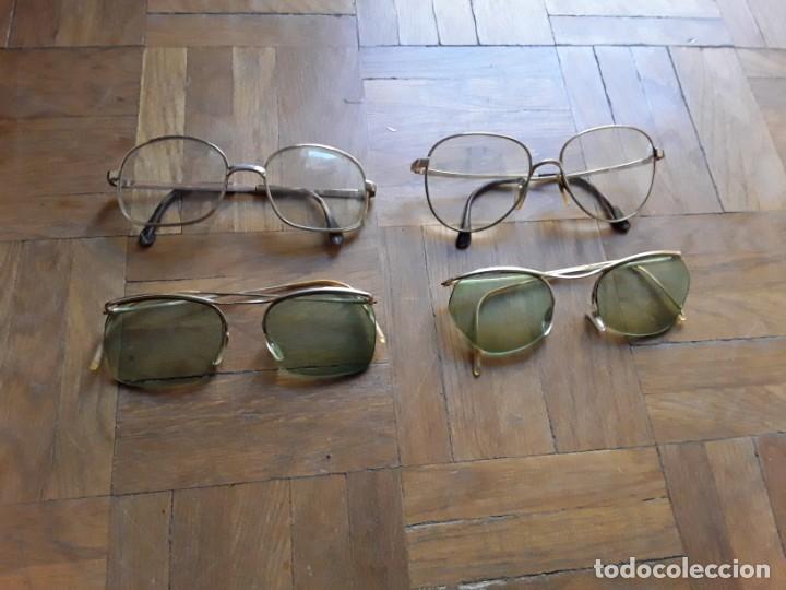GAFAS CON MONTURA METÁLICA GRADUADAS 4 UNIDADES (Vintage - Moda - Complementos)