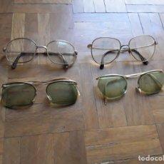 Vintage: GAFAS CON MONTURA METÁLICA GRADUADAS 4 UNIDADES . Lote 195363311