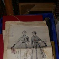 Vintage: LAMINAS DE MODA AÑOS 50 60. UNAS 400 UNIDADES.. Lote 195374908