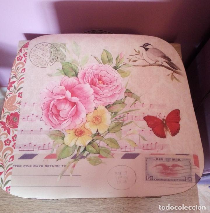 Vintage: Maleta flores anõs 80/90 Suiza - Foto 3 - 196669483