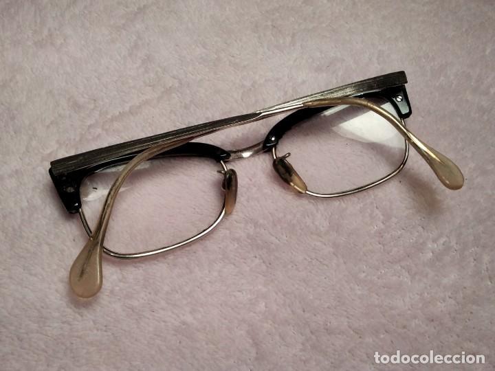 Vintage: Gafas vintage ( SIN MARCA SOLO 1/10 12K GF. En el puente.) CRISTALES GRADUADOS. MONTURA EN BUEN ESTA - Foto 4 - 197271706