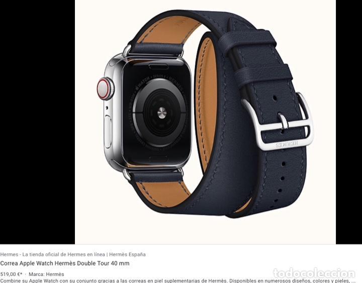 Vintage: Envío 8€. Correa doble original reloj HERMES. Mide 27x2cm la larga y 10x2cm la parte corta. - Foto 3 - 197392456