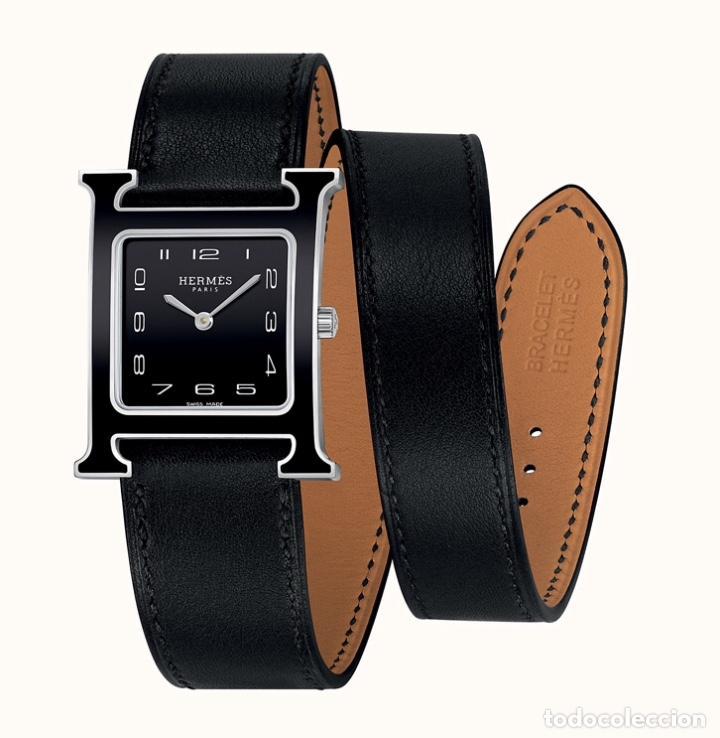 Vintage: Envío 8€. Correa doble original reloj HERMES. Mide 27x2cm la larga y 10x2cm la parte corta. - Foto 2 - 197392456