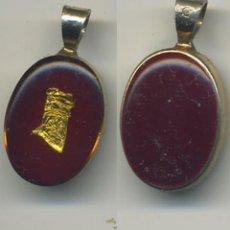 Vintage: COLGANTE CON LAMINA DE ORO MIDE 17/12 MM. Lote 198062685