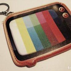 Vintage: MONEDERO / LLAVERO TELEVISIÓN CARTA DE AJUSTE. Lote 198733957