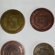 Vintage: M-757. LOTE 4 MEDALLAS DE BRONCE MEDICINA DEPORTIVA. SXX.. Lote 199129147