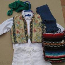 Vintage: TRAJE REGIONAL DE LABRADOR VALENCIA PARA NIÑO.CAMISA,PANTALON,CHALECO.FAJA,BUFANDA Y GORRO.. Lote 199152277