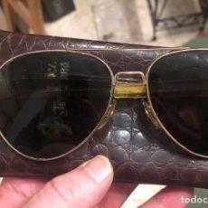 Vintage: BONITAS GAFAS DE AVIADOR MARCA COMMAND/ USA 23 KLT. Lote 199166466