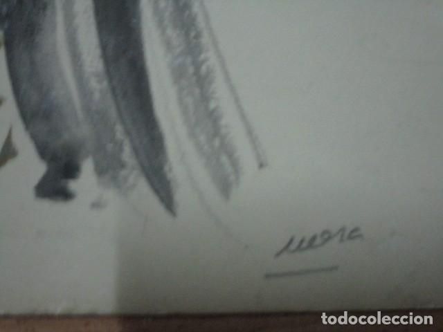 Vintage: ALICANTE dibujo acuarela antiguA vestido MODELO cuentos prohibidos firma A PEREZ alta costura - Foto 12 - 194624790