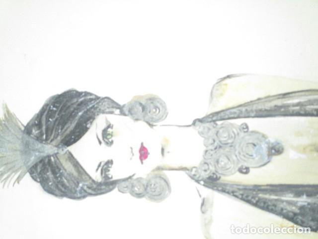 Vintage: ALICANTE dibujo acuarela antiguA vestido MODELO cuentos prohibidos firma A PEREZ alta costura - Foto 13 - 194624790