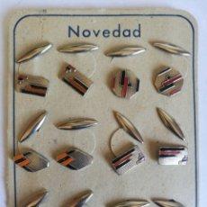 Vintage: GEMELOS CARTÓN DE 6 PAREJAS. Lote 199723625