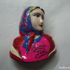 Vintage: RARO PIN DE BIMBA Y LOLA DEL PRINCIPIO 7 X 6,5 CM. RARO E IMPECABLE EN METAL MUY BIEN CONSERVADO. Lote 199942110
